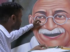 Amritsar-Based Man Paints Tribute To Mahatma Gandhi Ahead Of October 2