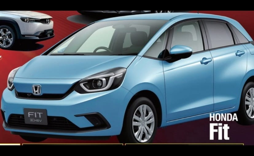 The car seen in this new leaked photo is the new-gen Honda Jazz/Fit Electric Hybrid version