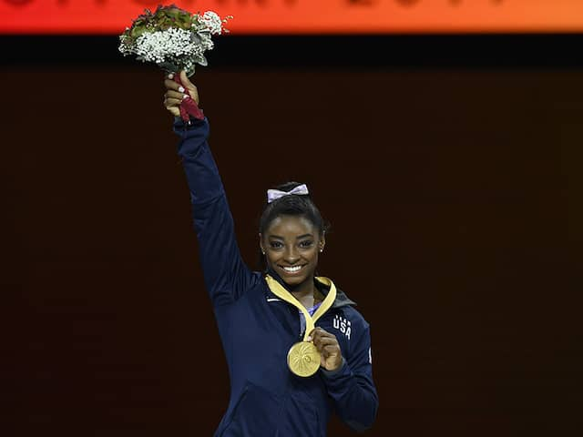 Simone Biles Extends Record For Most World Gymnastic Championship Medals