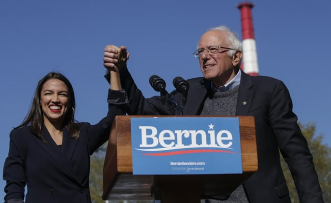 'I Call Him Uncle': Ocasio-Cortez Backs Bernie Sanders At Comeback Rally
