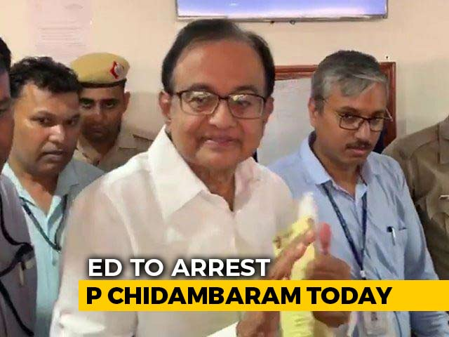 Video : P Chidambaram Questioned At Tihar Jail By Probe Agency Ahead Of Arrest