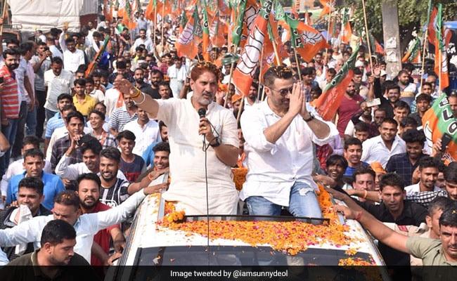 Watch: Sunny Deol Raises 'Dhai Kilo Ka Haath' For BJP's Haryana Campaign