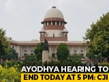 "Video : ""Enough Is Enough"", Ayodhya Hearing To End At 5 pm, Says Chief Justice"