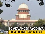Video : Supreme Court Sets New Deadline To Complete Ayodhya Arguments