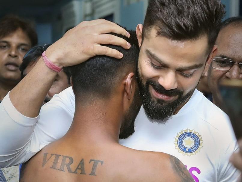 Virat Kohli Hugs Fan With Jersey Number Achievements