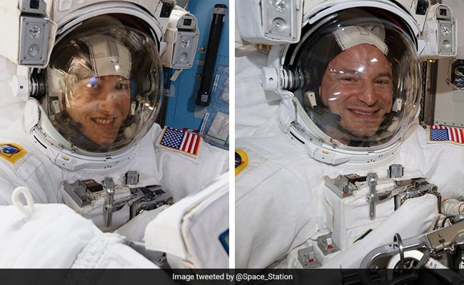 Two NASA astronauts complete 1st of 5 power upgrade spacewalks