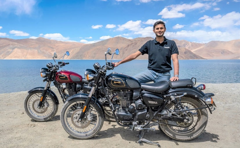 Benelli India - Managing Director, Vikas Jhabakh with the Benelli Imperiale 400