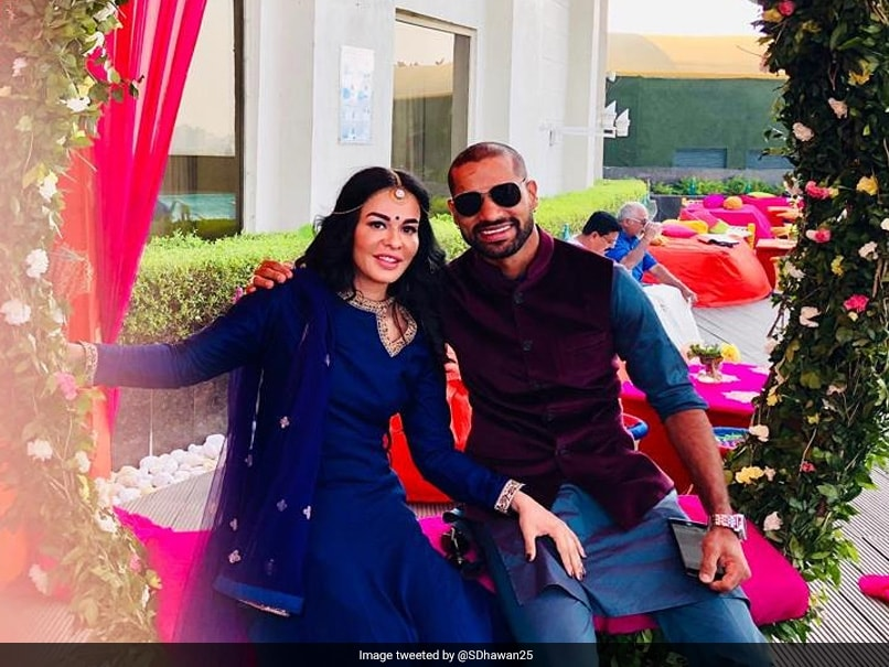 """Far But Still Close To Me"": Shikhar Dhawans Tweet For Wife On Karwa Chauth Gives Couple Goals"