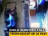Video : Watch: 3-Year-Old Madhya Pradesh Boy Survives 35-Foot Fall Onto Rickshaw