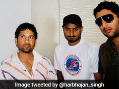 Sachin Tendulkar Trolls Yuvraj Singh In Harbhajan Singh