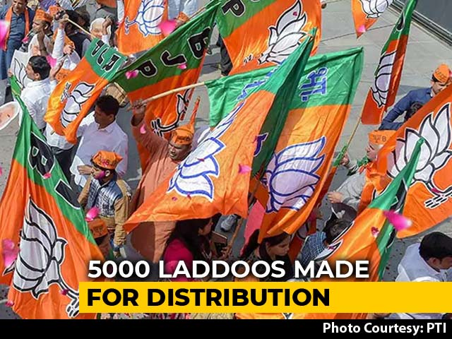 Video : Confident Of Win, Maharashtra BJP Orders 5,000 <i>Laddoos</i> Ahead Of Counting