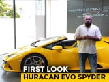 Video : Lamborghini Huracan Evo Spyder First Look