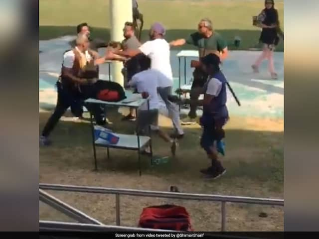 Fist Fight At Indias Premier Shooting Range. Watch