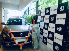 Actor Hema Malini Brings Home The MG Hector