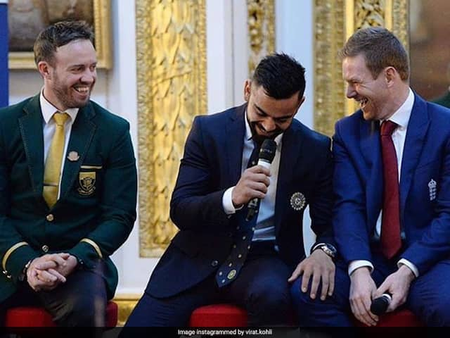 """""""Play Hard On The Field"""": Virat Kohli Shares Picture With AB De Villiers, Eoin Morgan"""