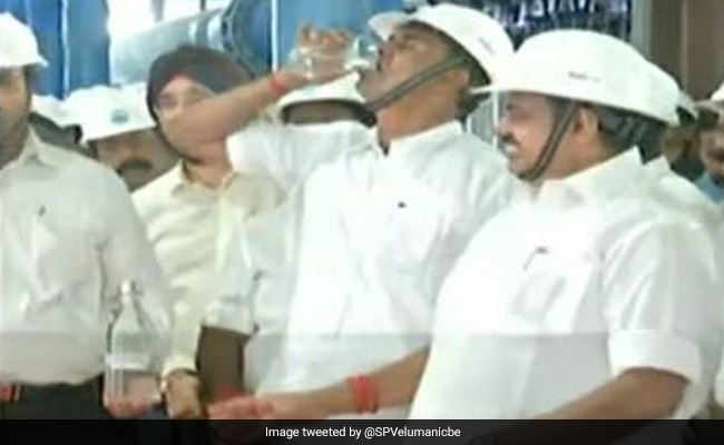Tamil Nadu Minister Drinks Treated Sewage Water To Set Example