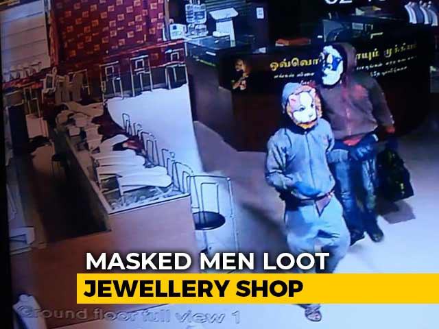 Video : Men With Tiger And Bull Masks Rob Crores From Tamil Nadu Jewellery Store