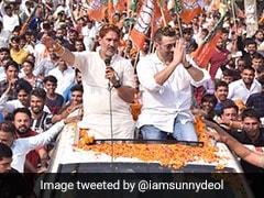 "Watch: Sunny Deol Raises <i>""Dhai Kilo Ka Haath""</i> For BJP's Haryana Campaign"