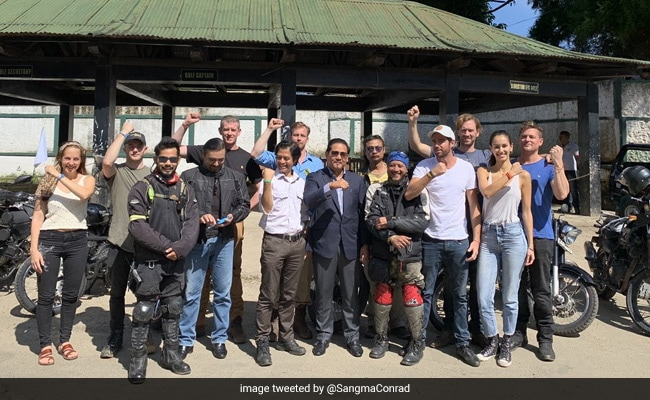 Meghalaya Chief Minister Flags Off Bike Rally To Commemorate Commencement Of WW2