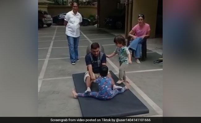 TikTok Top 5: तुषार कपूर के बेटे को टीचर सिखा रहा था योग, पीछे से आए तैमूर और... देखें VIDEO