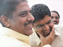 "Haryana Swearing-In Ceremony - ""Biggest Gift,"" Says Ajay Chautala As Son Dushyant Takes Oath"