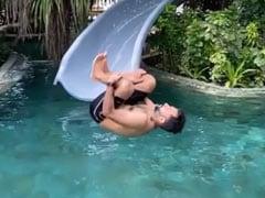 आनंद आहूजा ने पूल में लगाई छलांग, बीवी सोनम कपूर ने की तारीफ, ससुर अनिल कपूर ने दे डाली चेतावनी