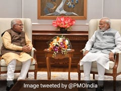 Haryana Chief Minister ML Khattar Meets PM Narendra Modi In Delhi