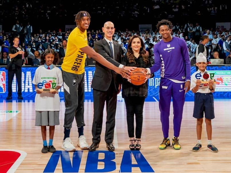"""Sacramento Kings vs Indiana Pacers: Nita Ambani Presents Ceremonial """"Match Ball"""" Ahead Of First-Ever NBA Game In India - Watch"""