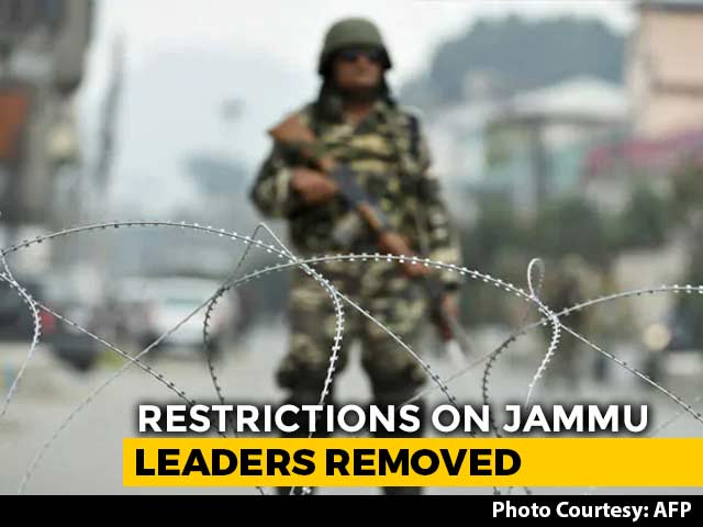 Video : Ahead Of Local Polls, Jammu Leaders Freed From House Arrest