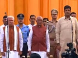 Video : Manohar Lal Khattar Takes Oath As Haryana Chief Minister