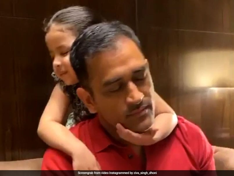 MS Dhoni Getting Massage, Cuddles From Daughter Ziva Is The Most Adorable Thing You Will See Today