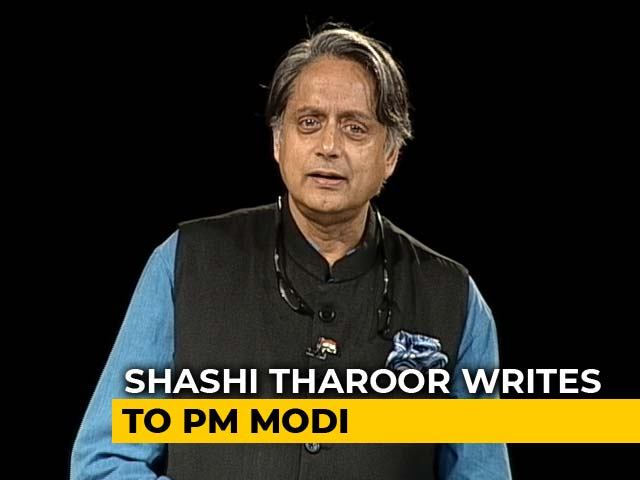 "Video : Shashi Tharoor Writes To PM, Cites ""Naya Bharat"" After FIR Against Celebs"