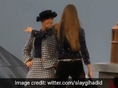 Model Gigi Hadid Stops Woman Who Gatecrashed Chanel Paris Fashion Week