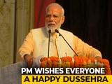 Video : Festivals Bring Us Together, Says PM Modi At Dussehra Event