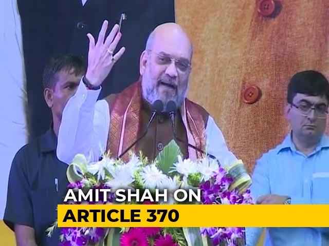 Video : J&K Move Is Modi-<i>Ji</i>'s Tribute To Syama Prasad Mookerjee, Says Amit Shah