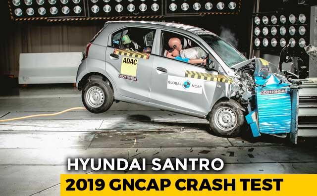Video : Hyundai Santro Crash Tested, Scores 2 Stars