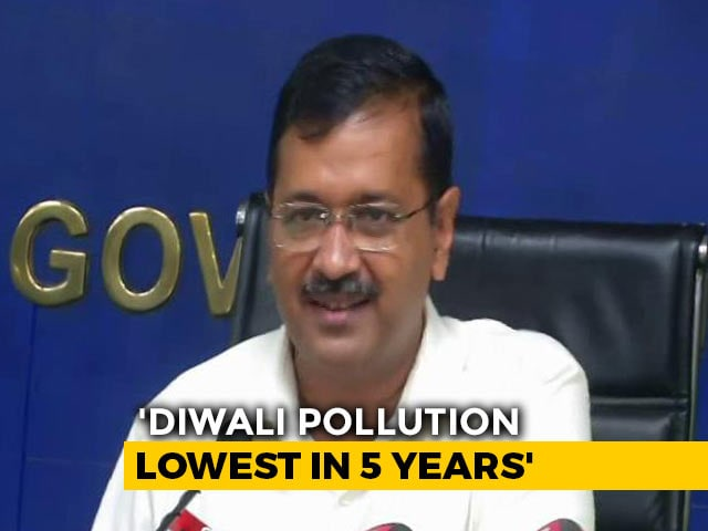 "Video : ""Diwali Pollution Lowest In 5 Years,"" Says Arvind Kejriwal"