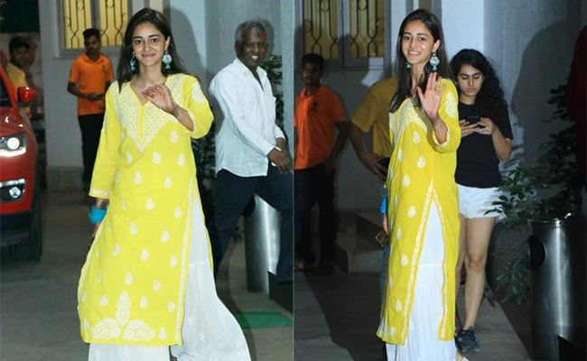 Brighten Up Your Ethnic Look In A Chic Yellow <i>Kurta</i> Like Ananya Panday