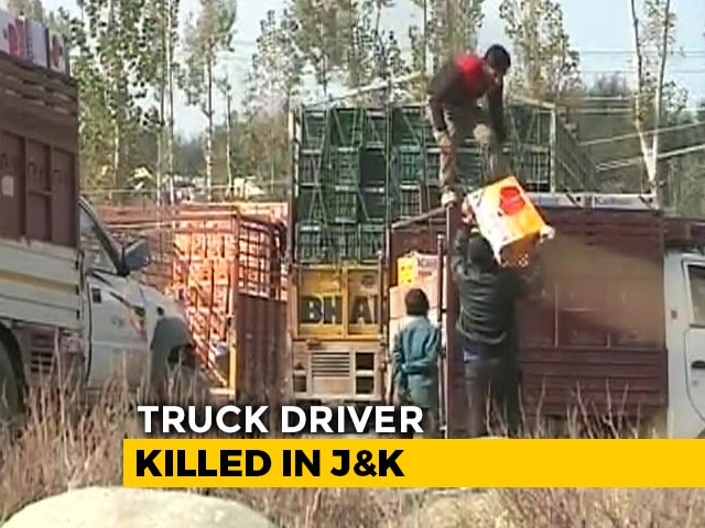 Video : Terrorists Kill Apple Truck Driver In J&K, Fourth Attack In Under 2 Weeks