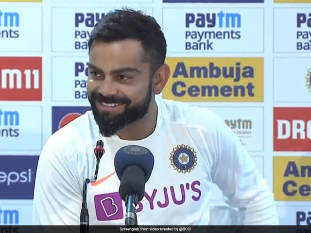 Indian Skipper Virat Kohli Laughs Off Question On Sourav Ganguly Seeking Clarity On MS Dhonis Future