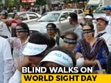 Video : Hundreds Walked Blindfolded Behind The Visually Impaired In Bengaluru