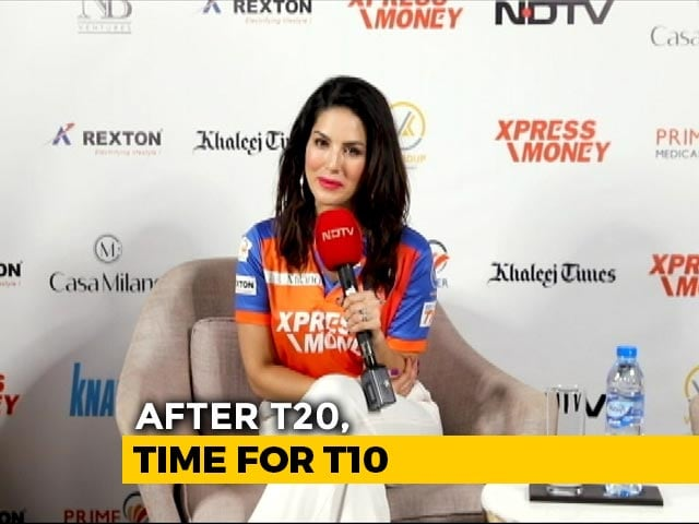 Video : Sunny Leone Endorses Delhi Bulls T10 Franchise