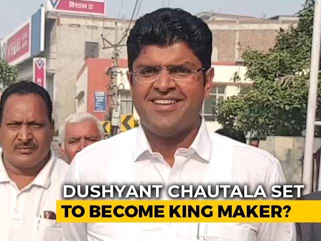 Video : Dushyant Chautala Looks To Play 'Kingmaker' In Hung Haryana Assembly