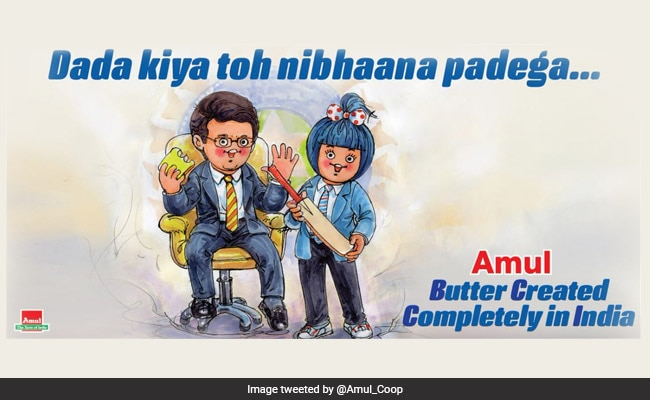 'Dada Kiya Toh...' Amul Cheers Sourav Ganguly For BCCI Top Job