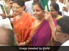 Rashtriya Ekta Diwas 2019: Flooded Chennai Street Greets Nirmala Sitharaman On National Unity Day