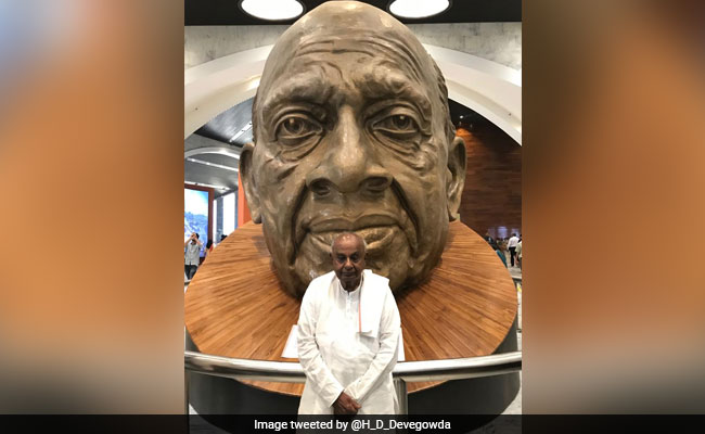 HD Devegowda Visits 'Statue Of Unity', PM Modi Tweets 'Happy To See Him'