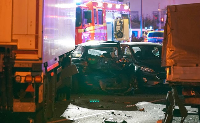 Eight hurt as stolen truck crashes into cars in Germany