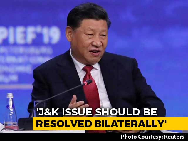 Video : Ahead Of Xi's Visit, China Says J&K Issue Should Be Resolved Bilaterally
