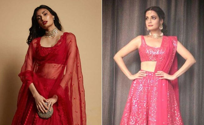 From Athiya Shetty To Dia Miza, The Red <i>Lehenga</i> Will Be Every Bride's Dream