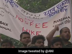 JNU Students Demand Meet With Vice Chancellor, Continue Fee Hike Protest